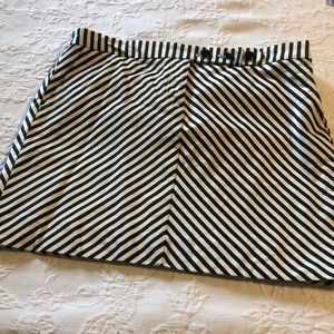 J Crew Black and White Stretch Skirt